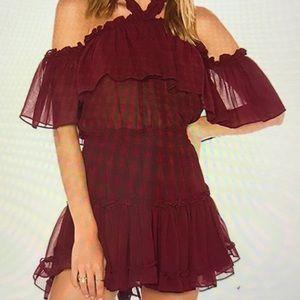 Halter Off Shoulder Short Mini Dress.